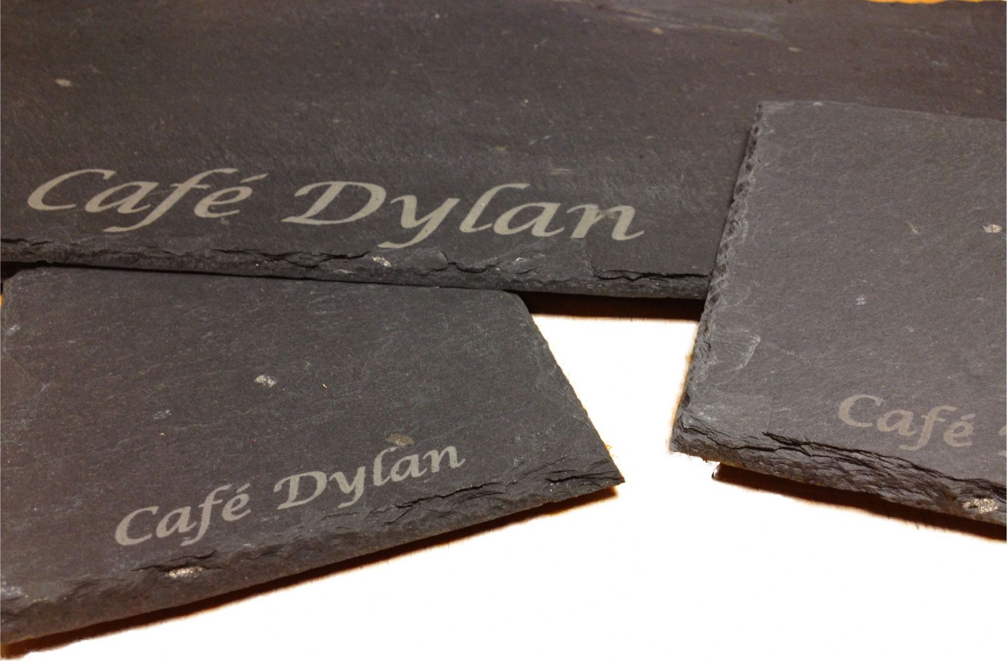 Engraved Slate Serving Plates 25cm x 25cm: www.derwentlasercrafts.co.uk/engraved-slate-serving-plates-25cm-x...