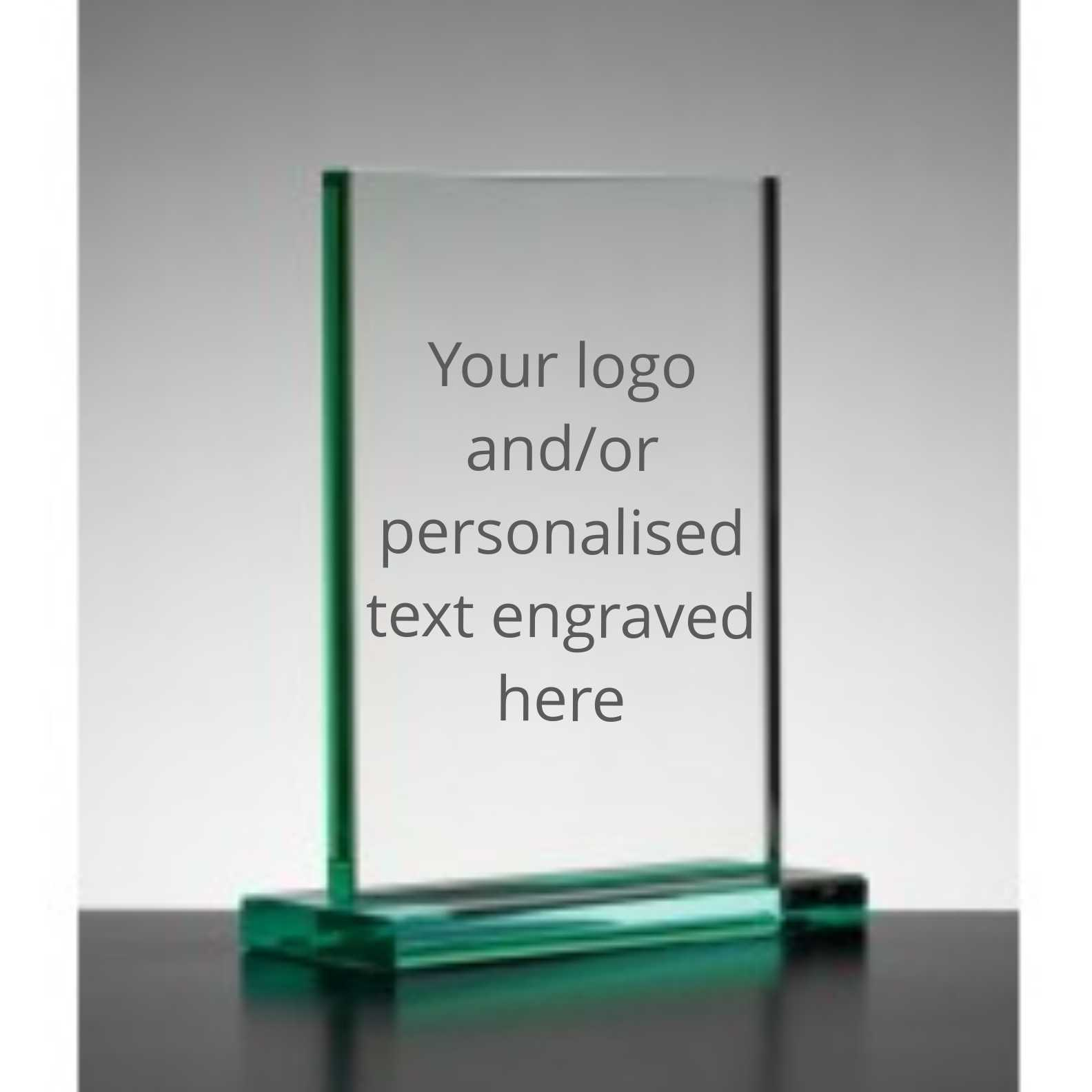 Personalised Engraved Jade Rectangle Trophy Plaque 20cm