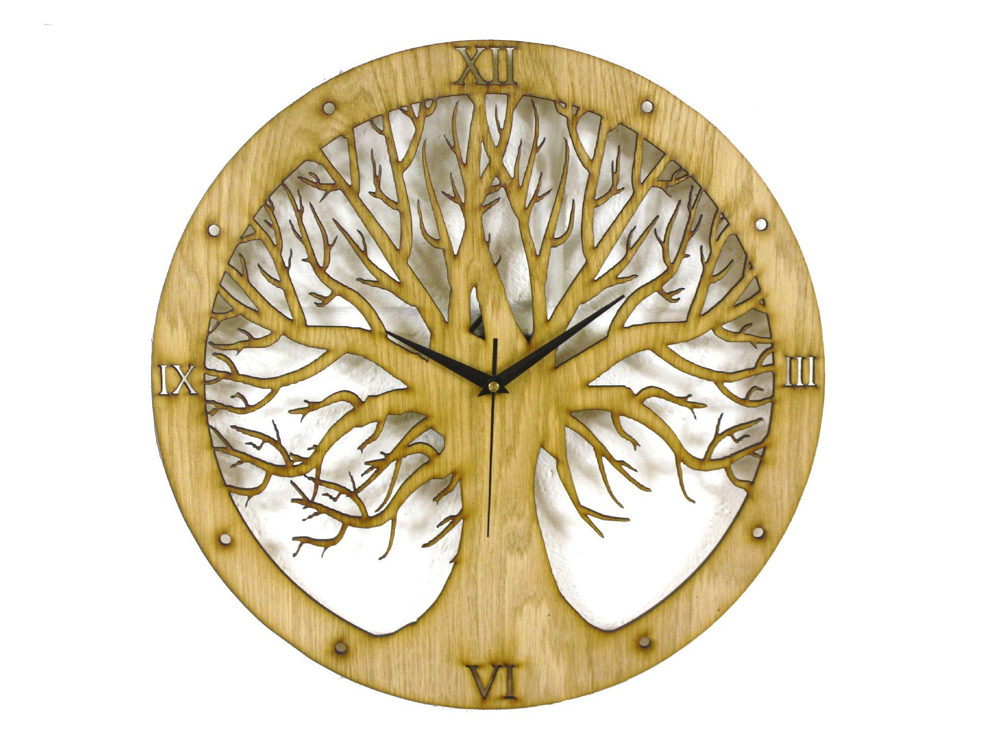 Vintage Kitchen Island Tree Design Laser Cut Clock