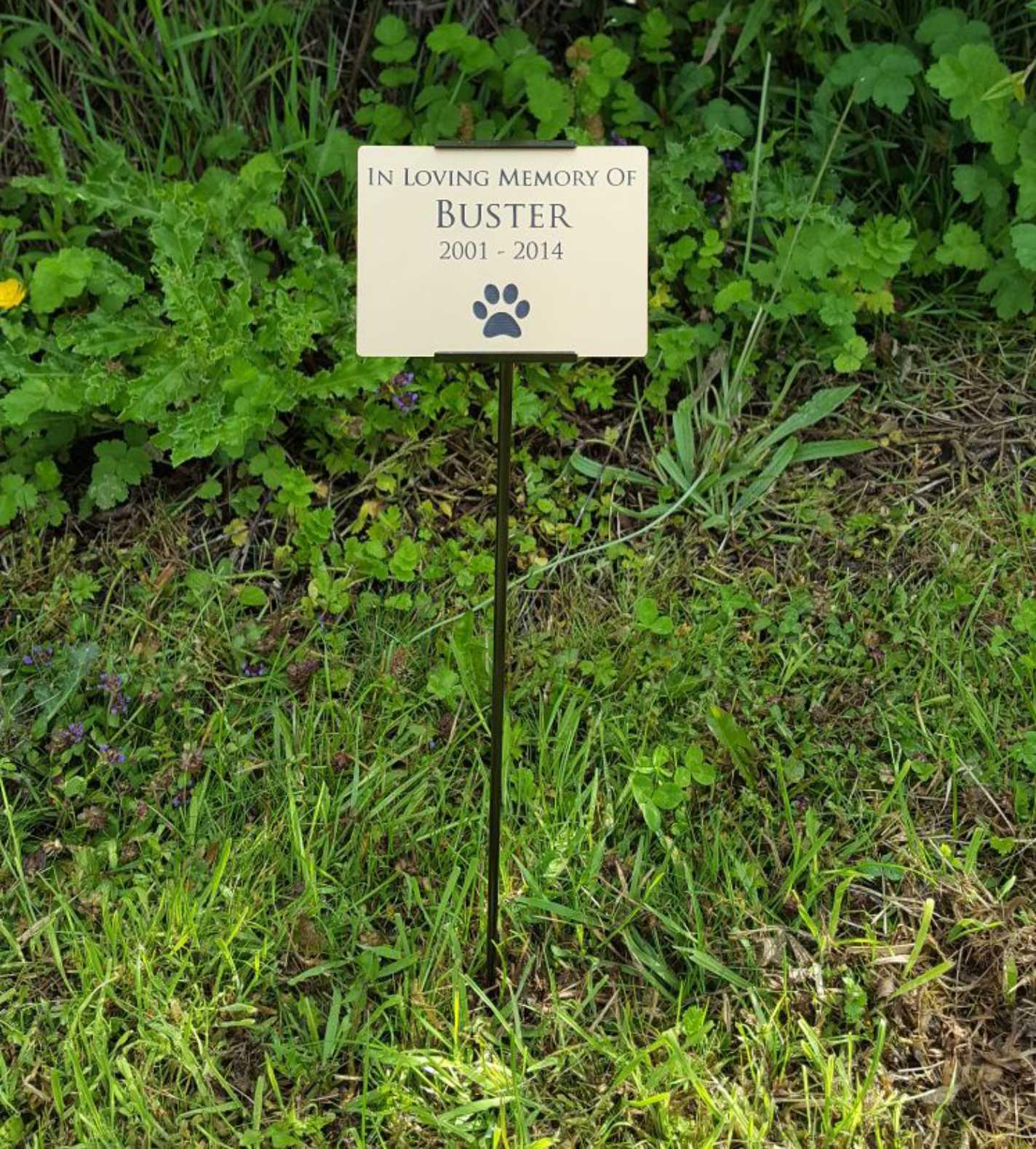 Outdoor Garden Stake Memorial Plaque Choose Your Text